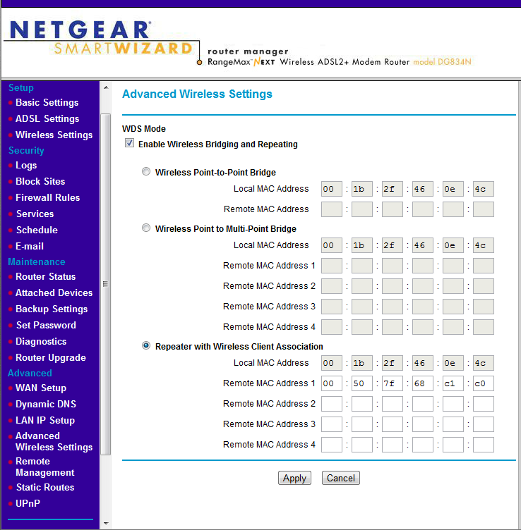 Netgear Wireless Settings